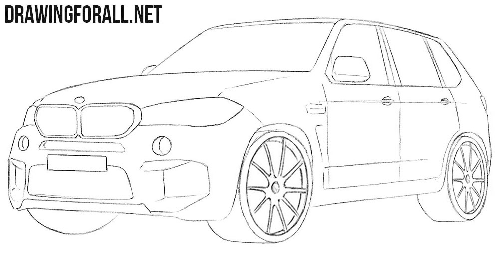 BMW X5 drawing tutorial