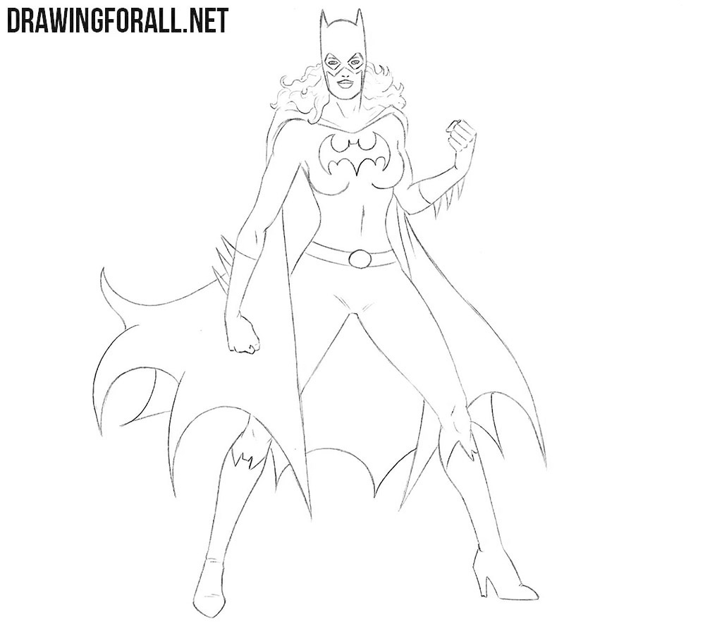 Batgirl drawing tutorial