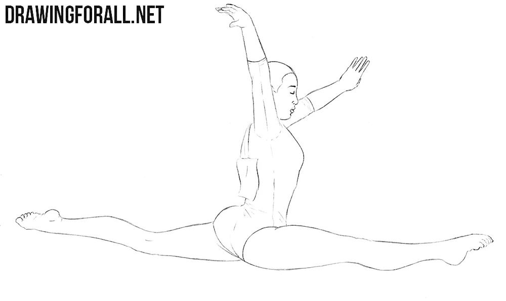 Gymnast drawing tutorial