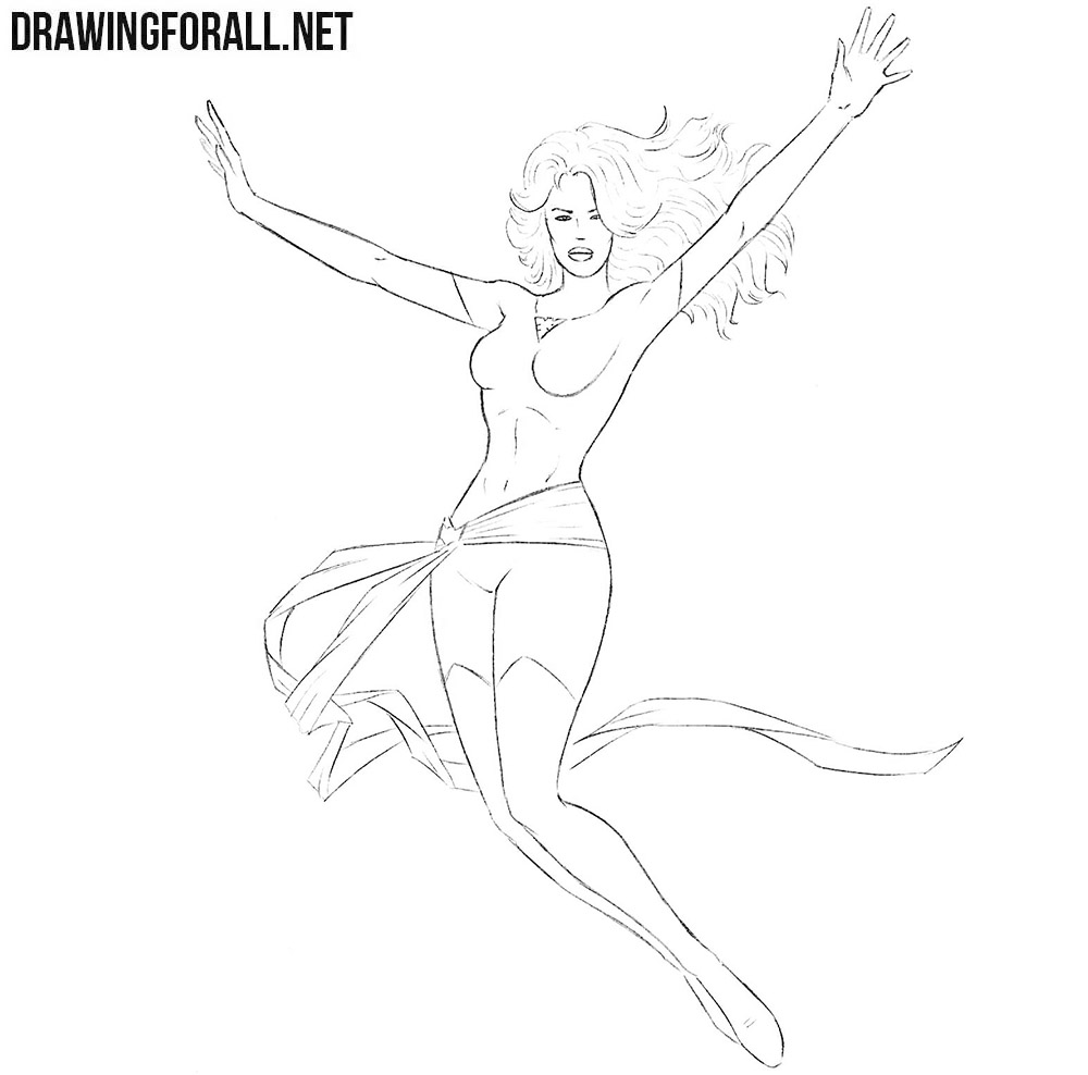 Jean Grey drawing tutorial