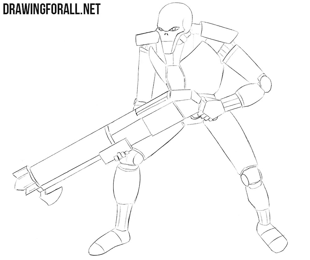 Necron drawing tutorial