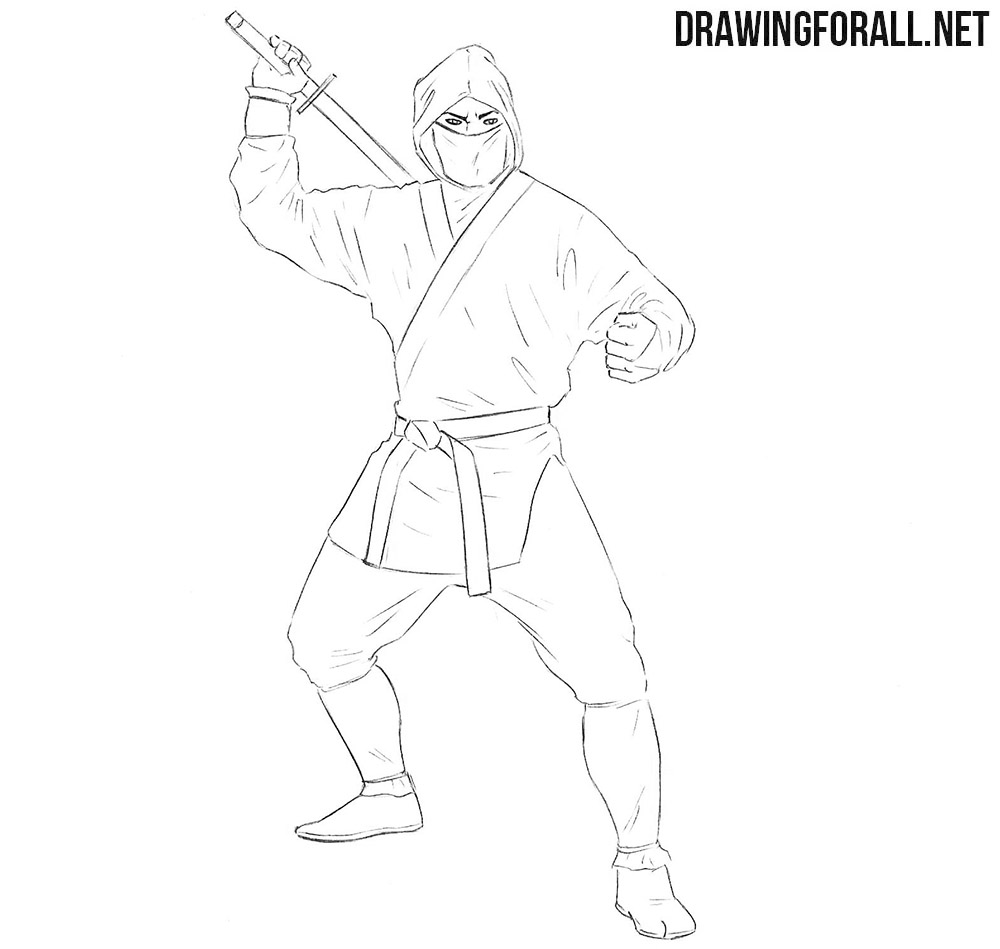 Ninja for beginners drawing tutorial