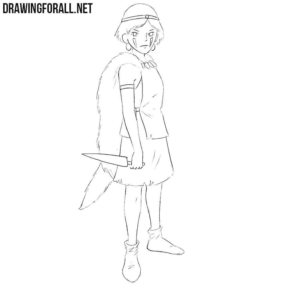 Princess Mononoke drawing tutorial