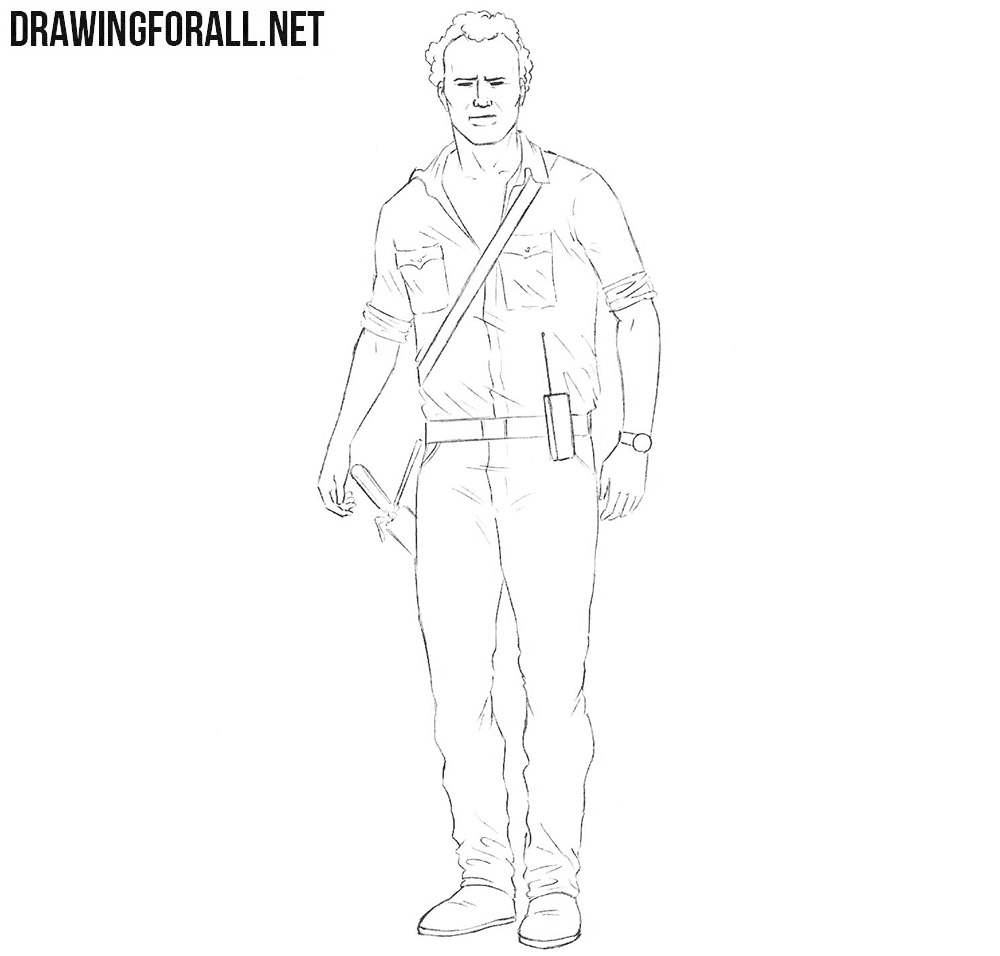 Rick Grimes drawing tutorial