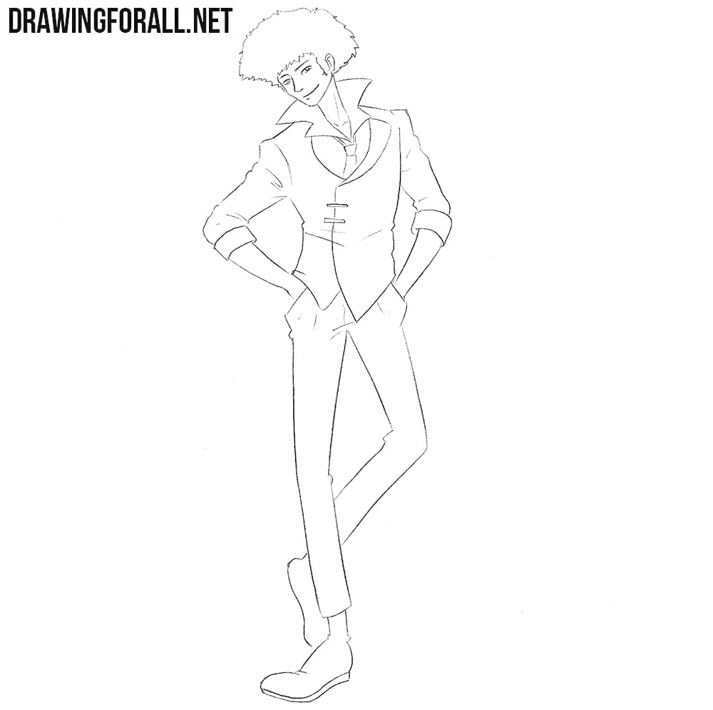 Spike Spiegel drawing tutorial