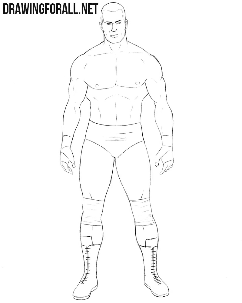 Wrestler drawing tutorial