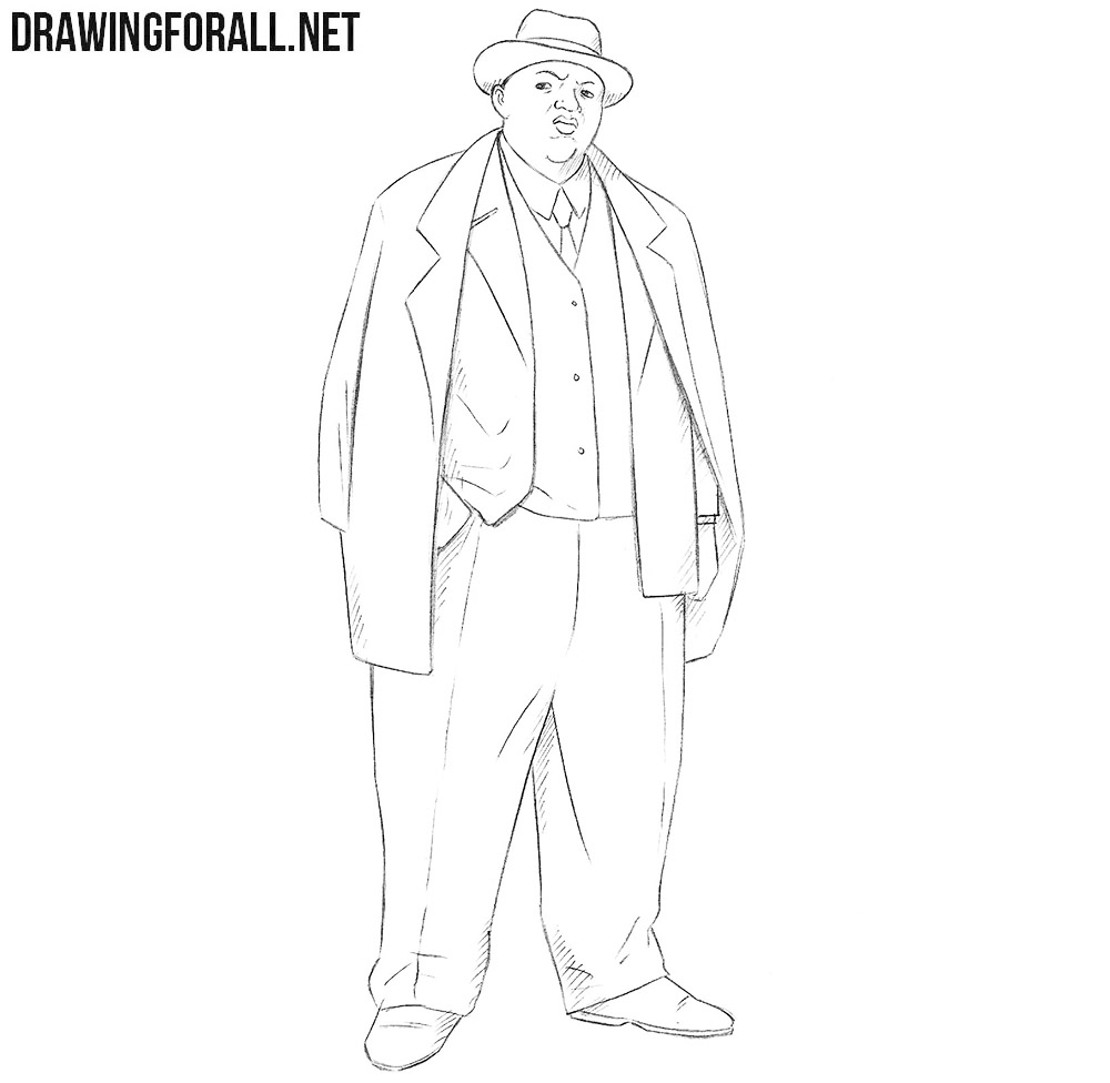 How to draw Biggie Smalls