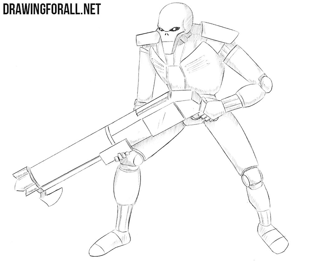 How to draw a necron