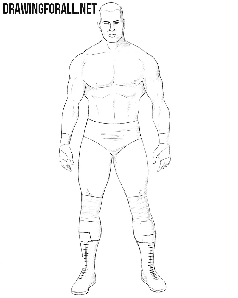 How to draw wrestler