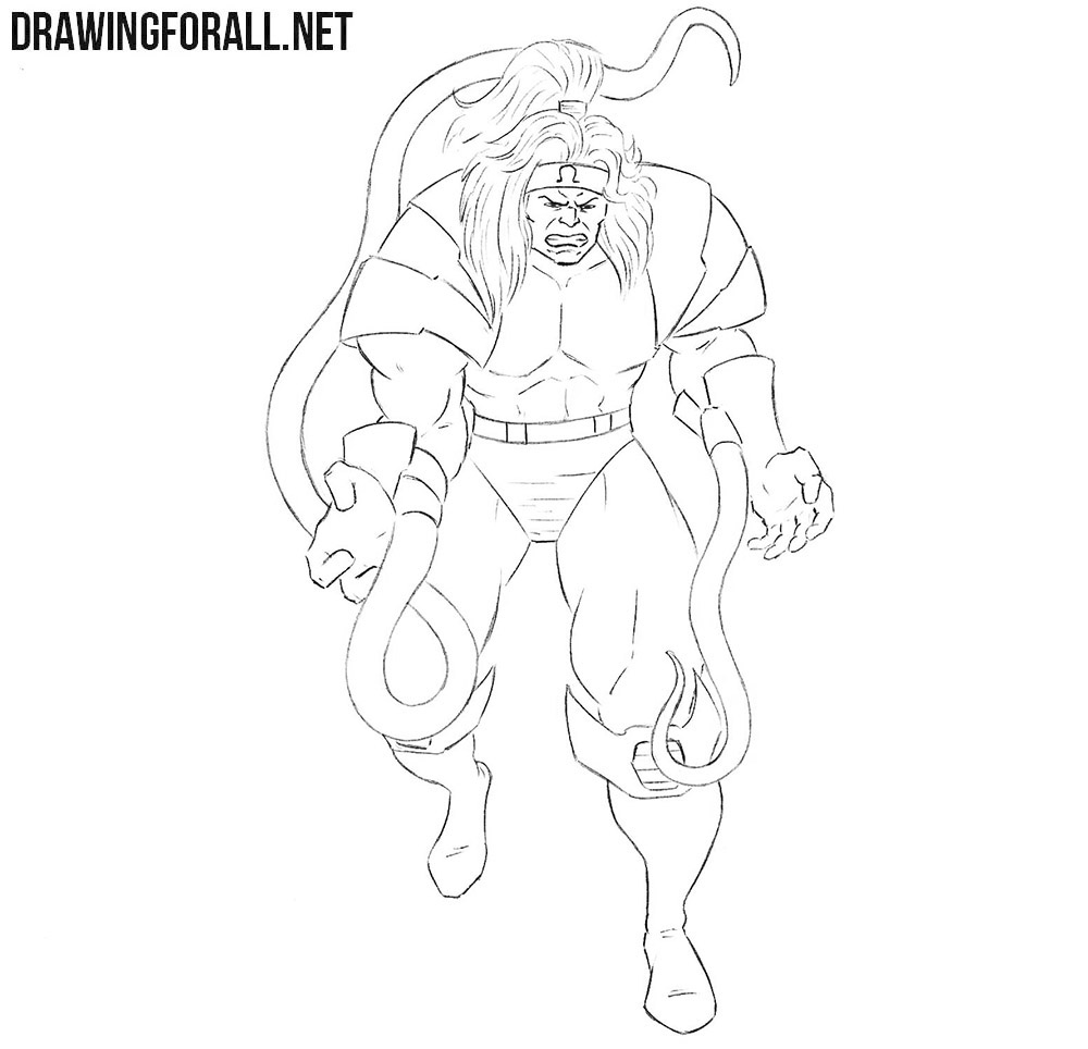 Omega Red drawing tutorial