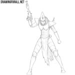 How to Draw a Dark Eldar