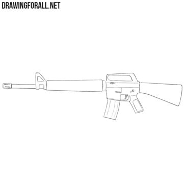 How to Draw a Rifle for Beginners