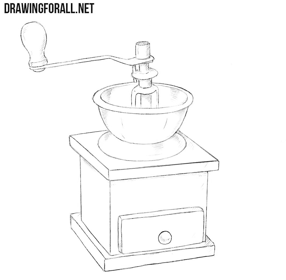Coffee grinder drawing