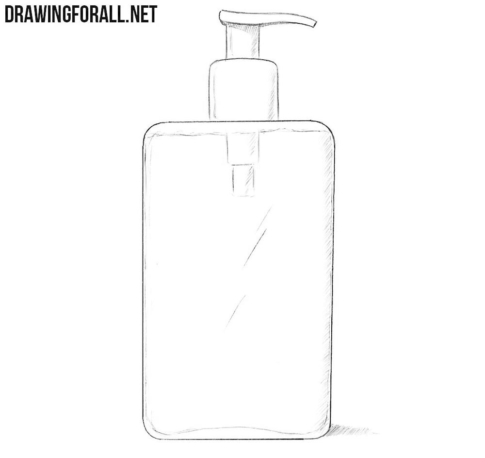 Liquid soap drawing