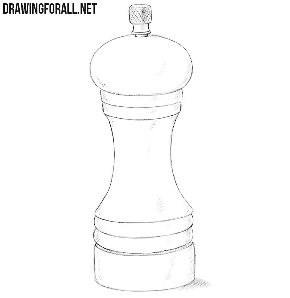 Pepper mill drawing