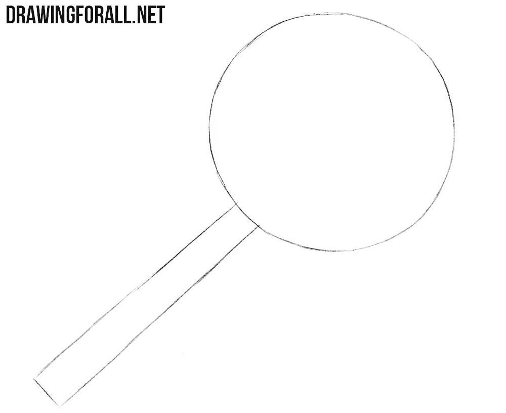 How to draw a magnifier