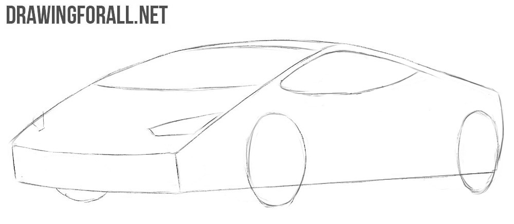 How to draw a Lamborghini step by step