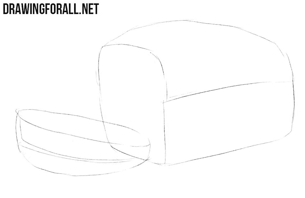 How to draw a bread loaf