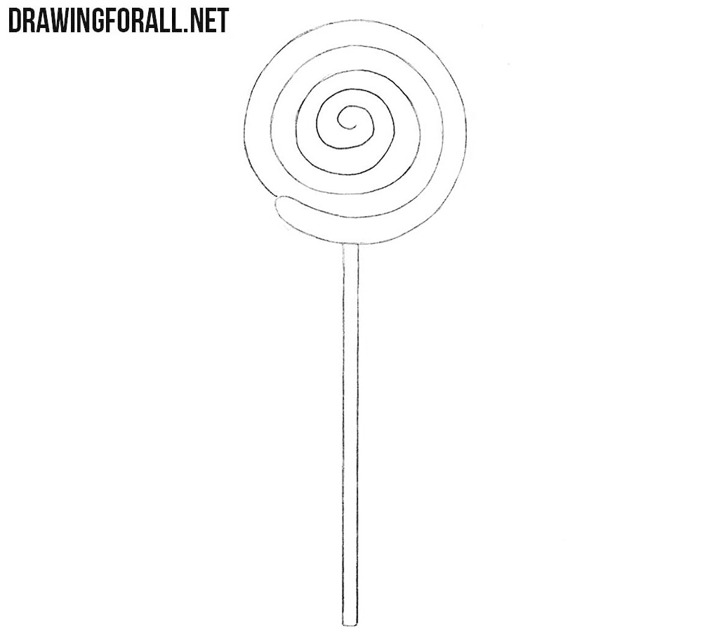 How to draw a lollipop easy