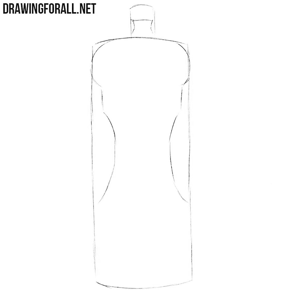 How to draw a pepper mill step by step