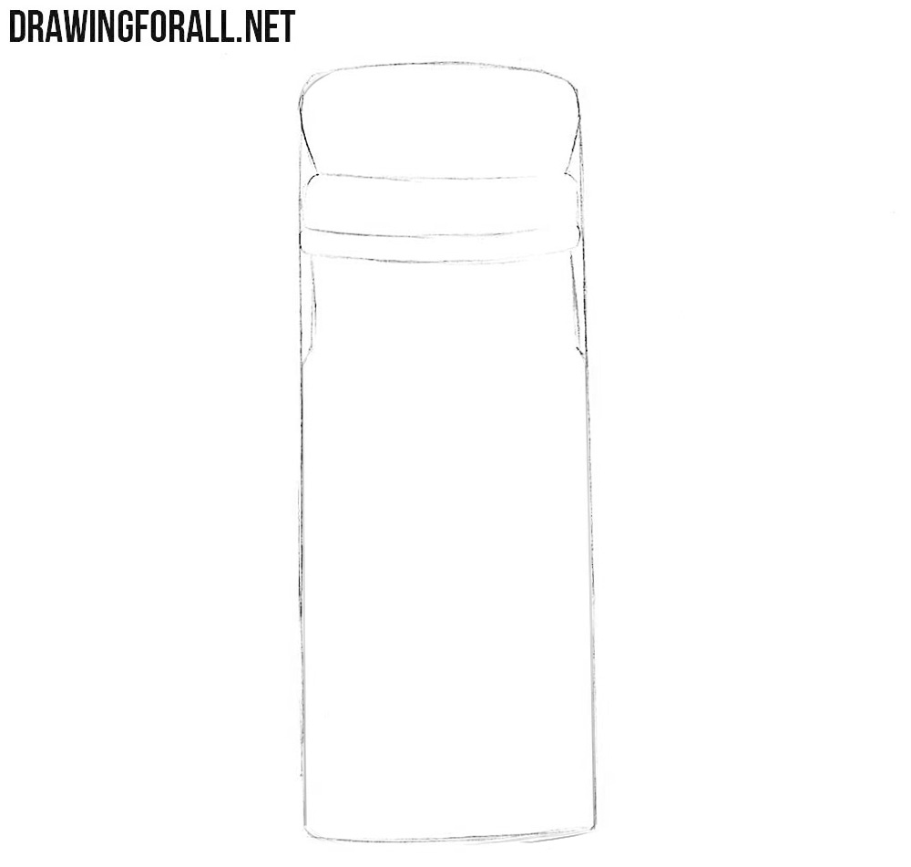 How to draw a salt shaker step by step