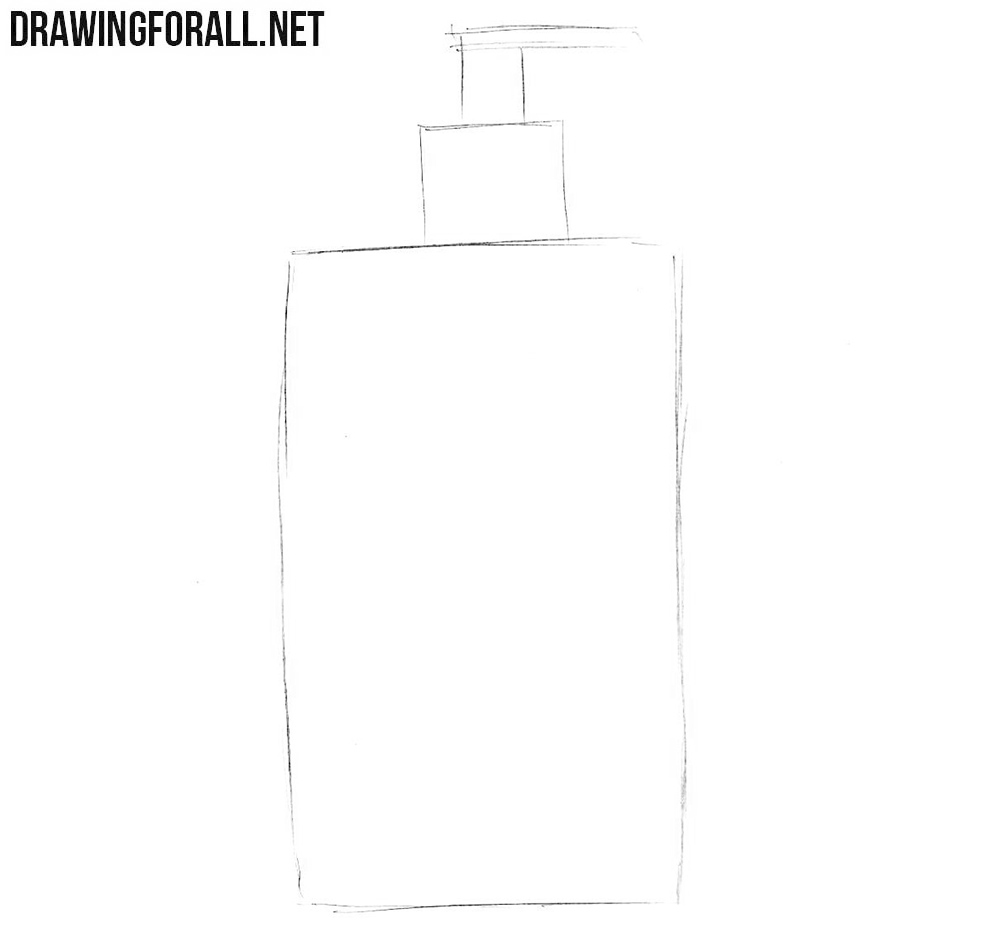 Learn how to draw a liquid soap