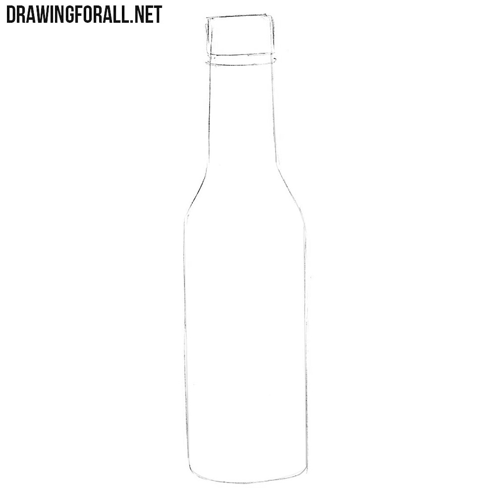 Learn how to draw a sauce bottle