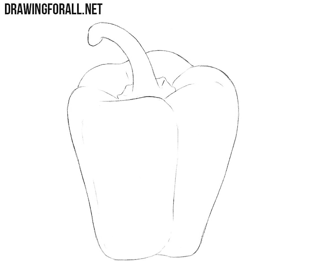 Bell pepper drawing tutorial