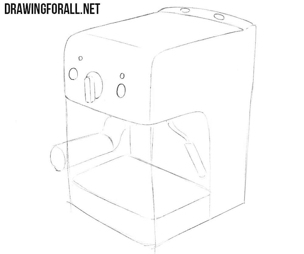 How to draw a coffee machine
