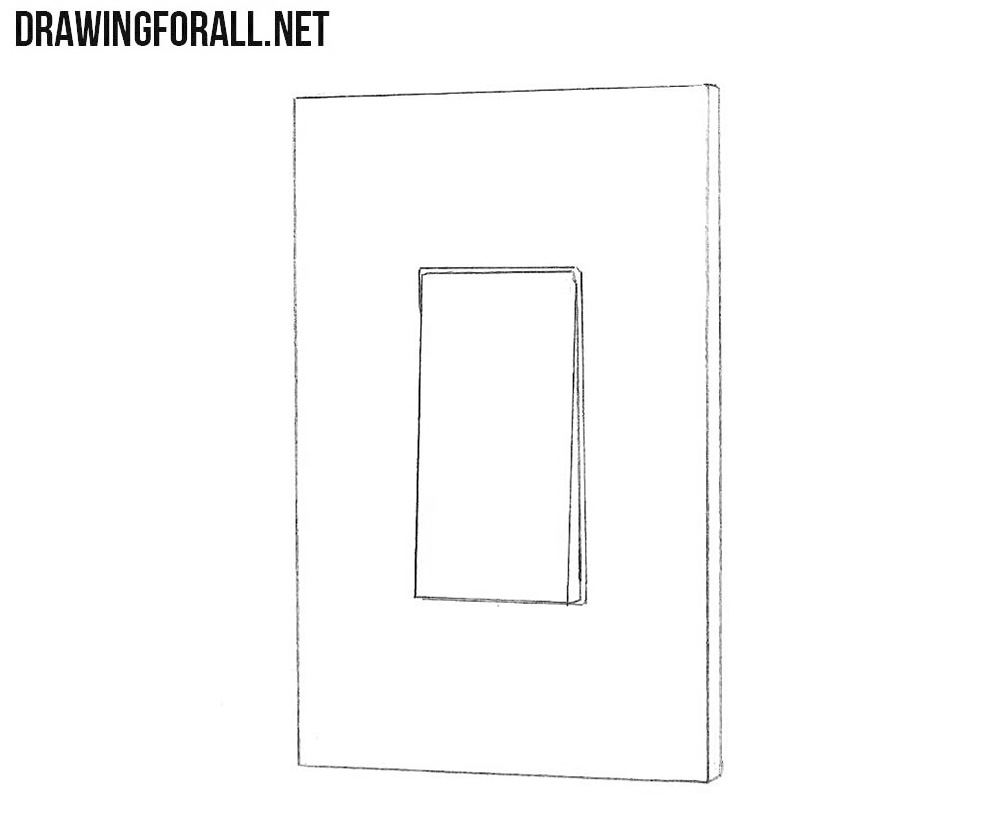 How to draw a light switch step by step