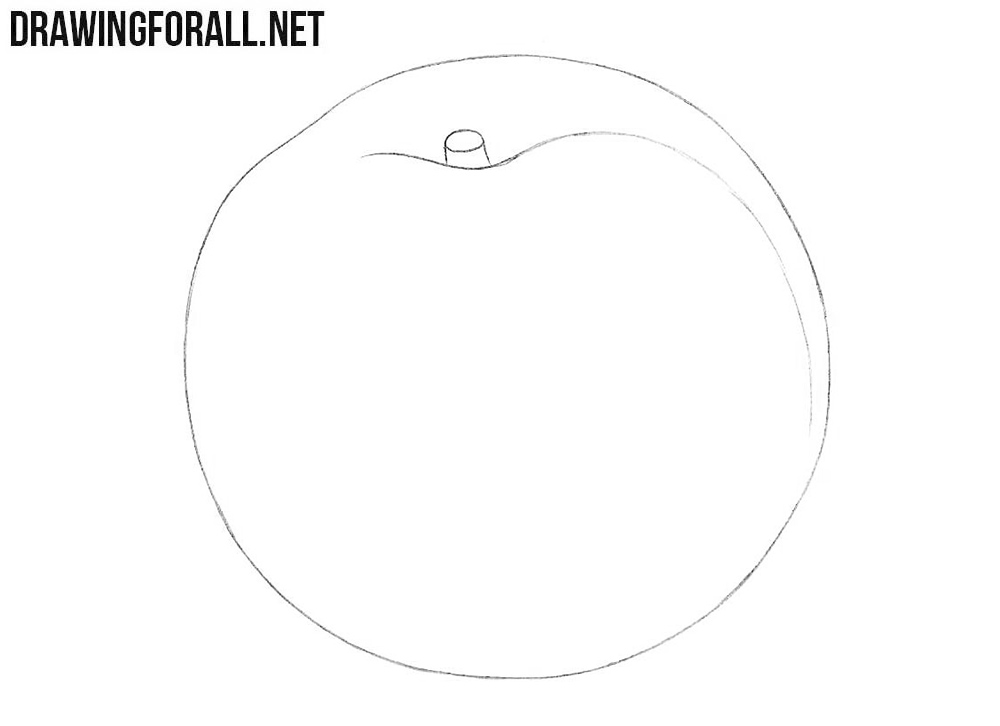 How to draw a nectarine easy