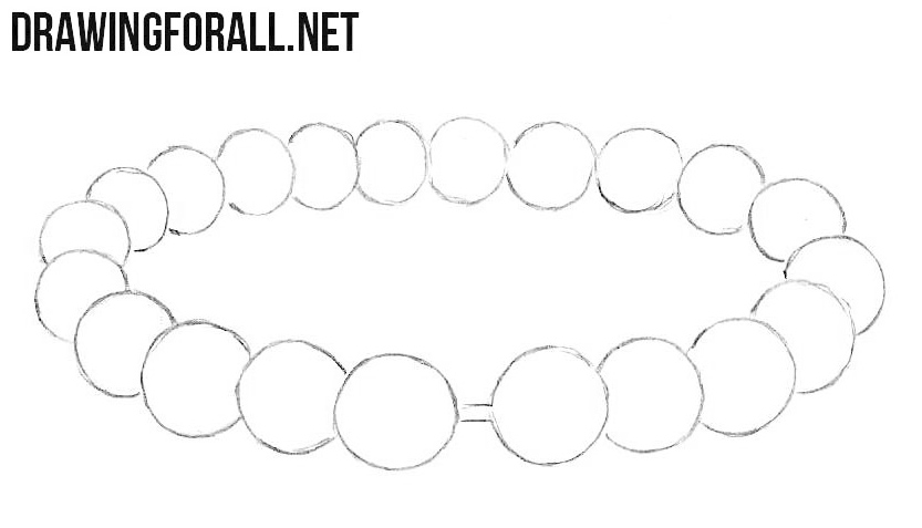 How to draw a pearl bracelet