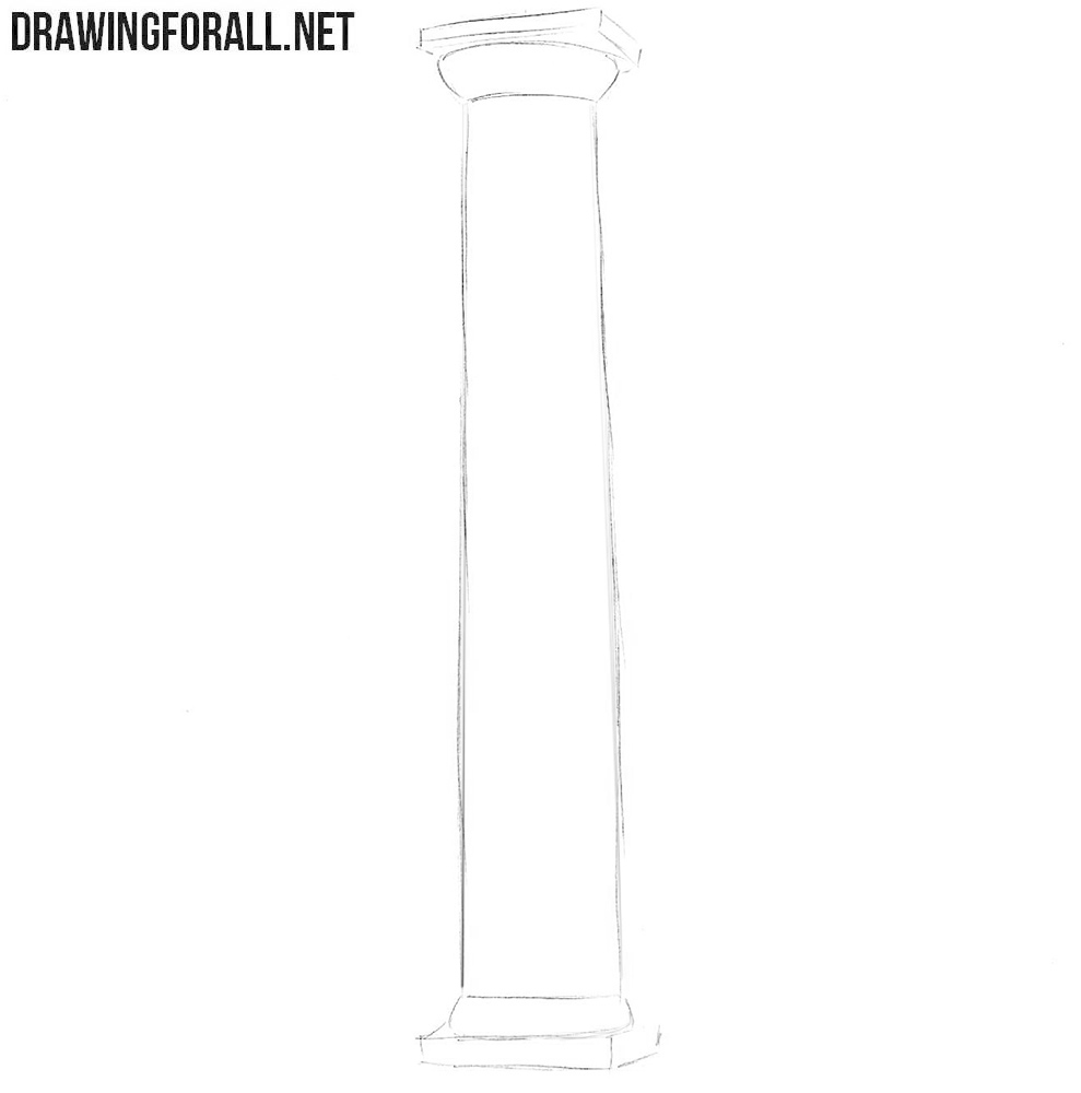 How to sketch a column step by step