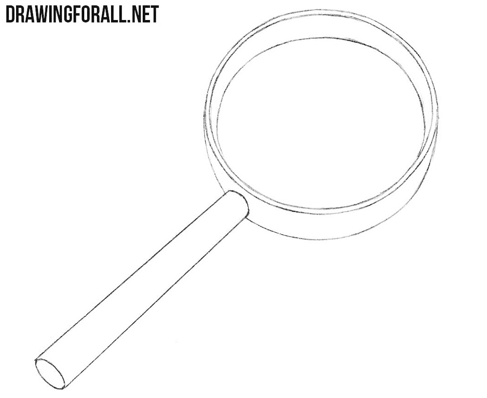 How to sketch a magnifier