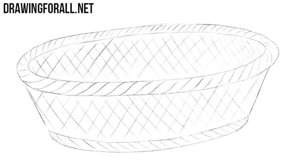Learn how to draw a bread basket