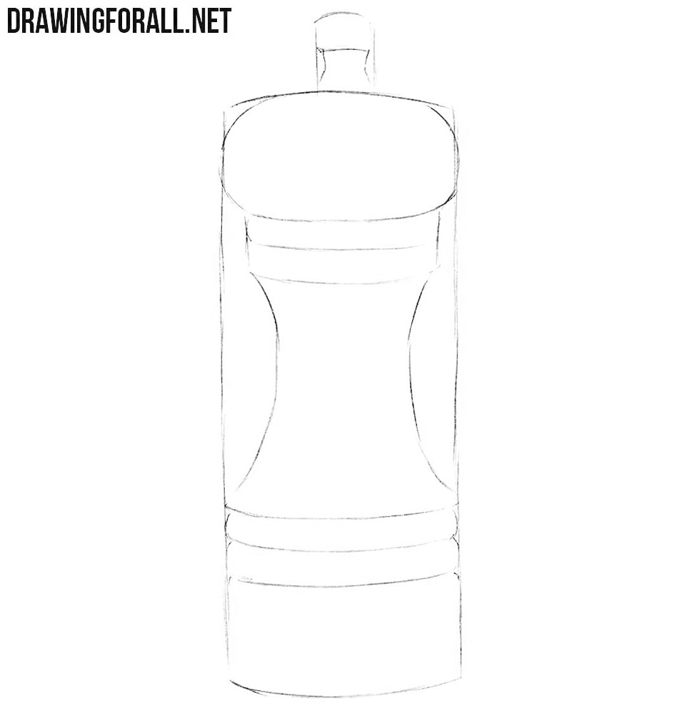 Learn how to draw a pepper mill