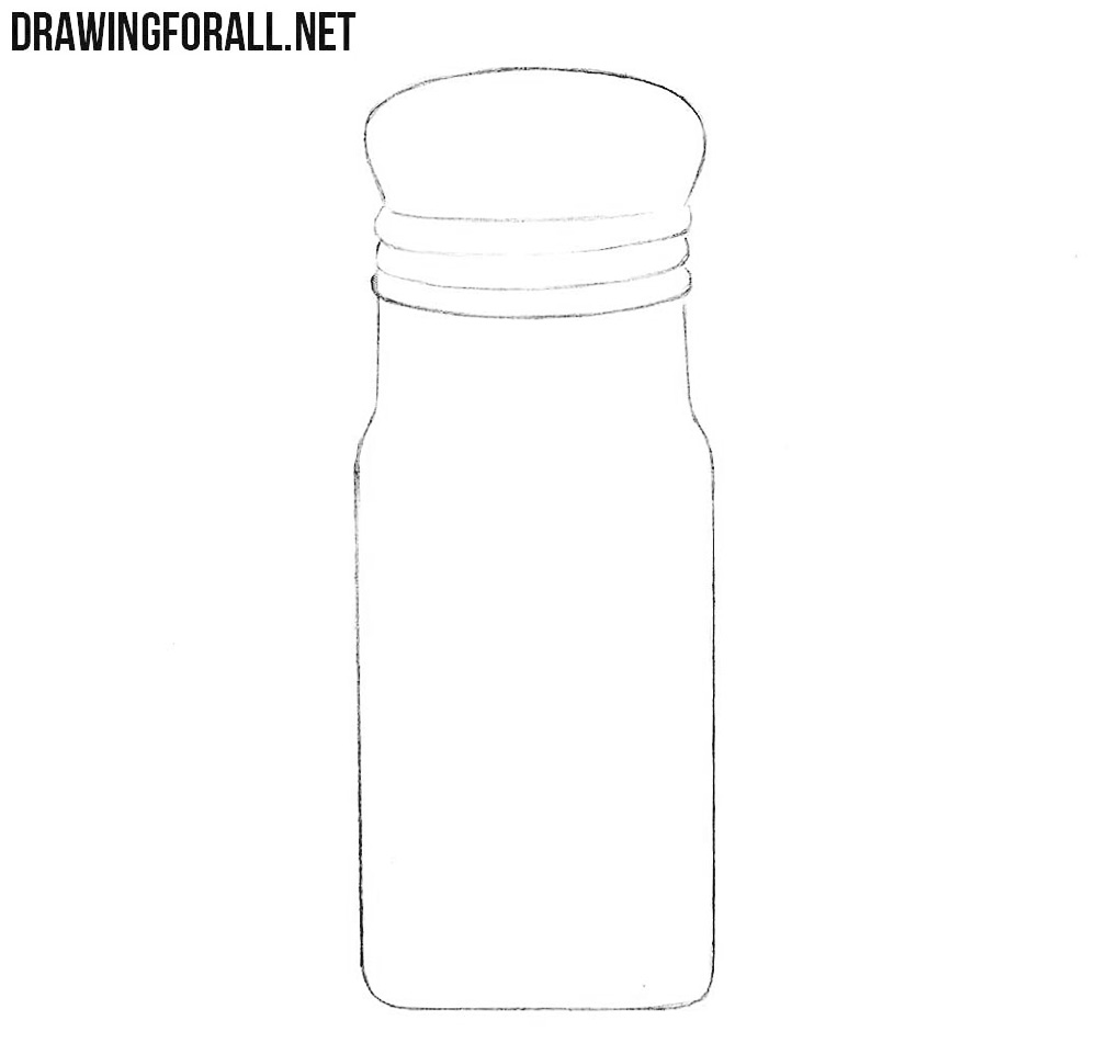 Learn how to draw a salt shaker