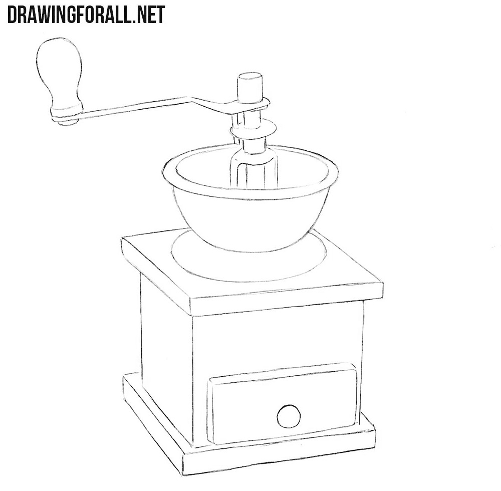 Coffee grinder drawing tutorial