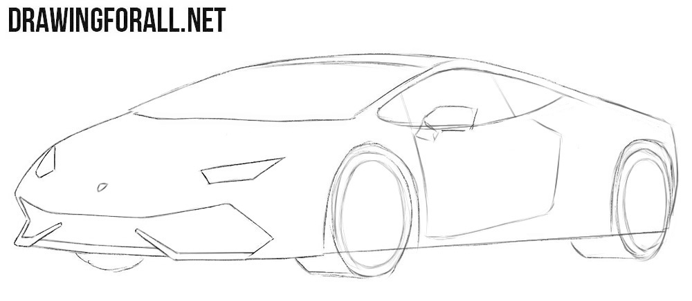 How to draw a basic Lamborghini