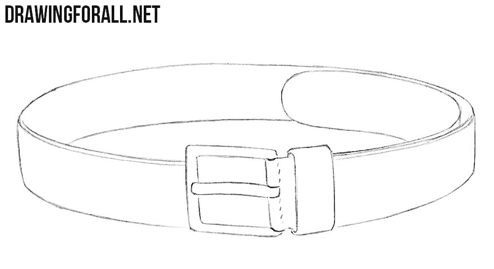 How to draw a belt easy