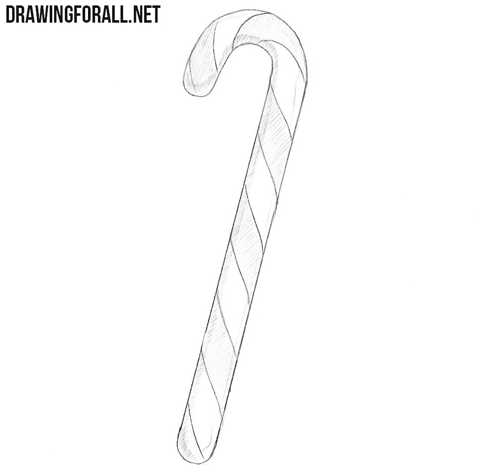 How to draw a candy cane