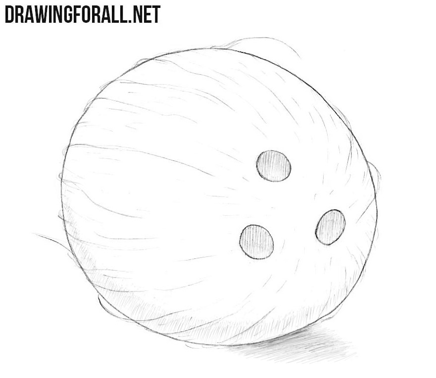 How to draw a coconut