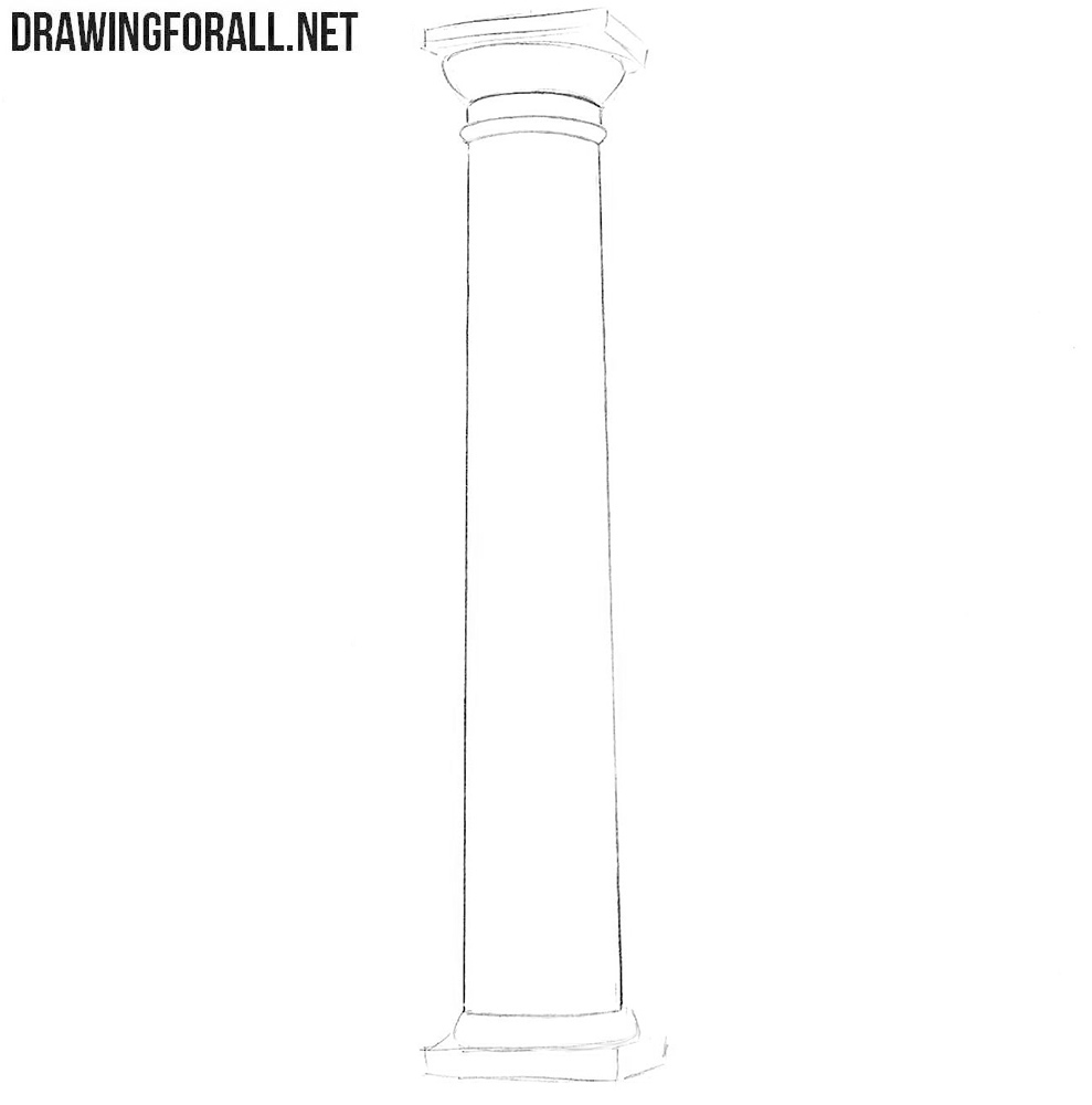 How to draw a column step by step