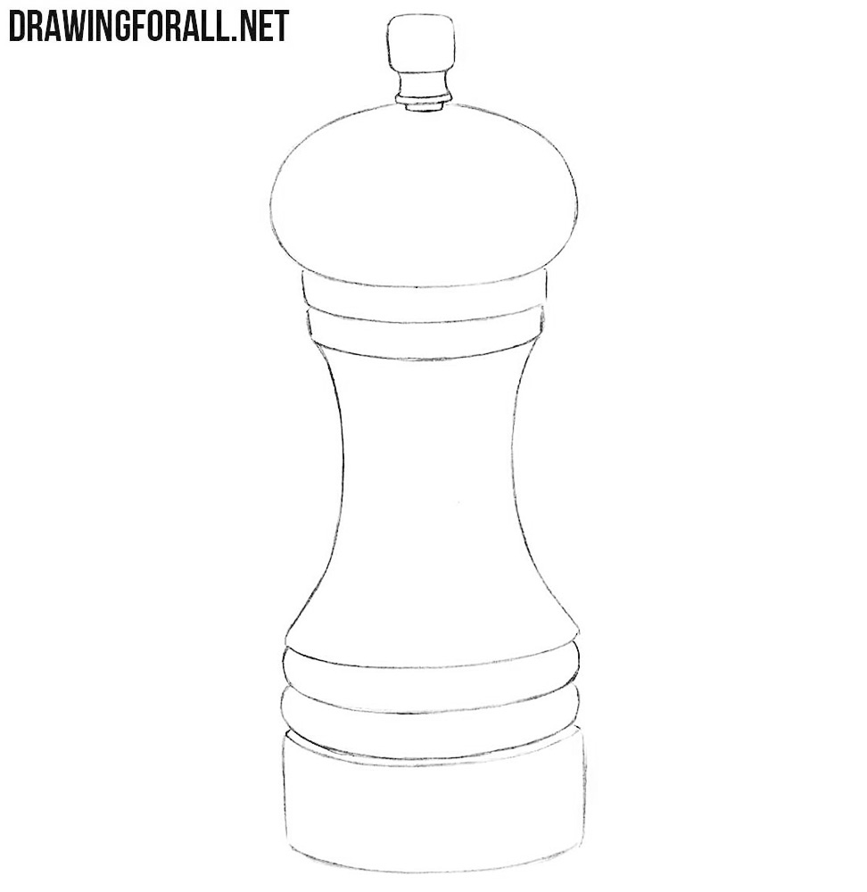 How to draw a pepper grinder
