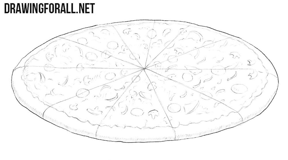 How to draw a pizza