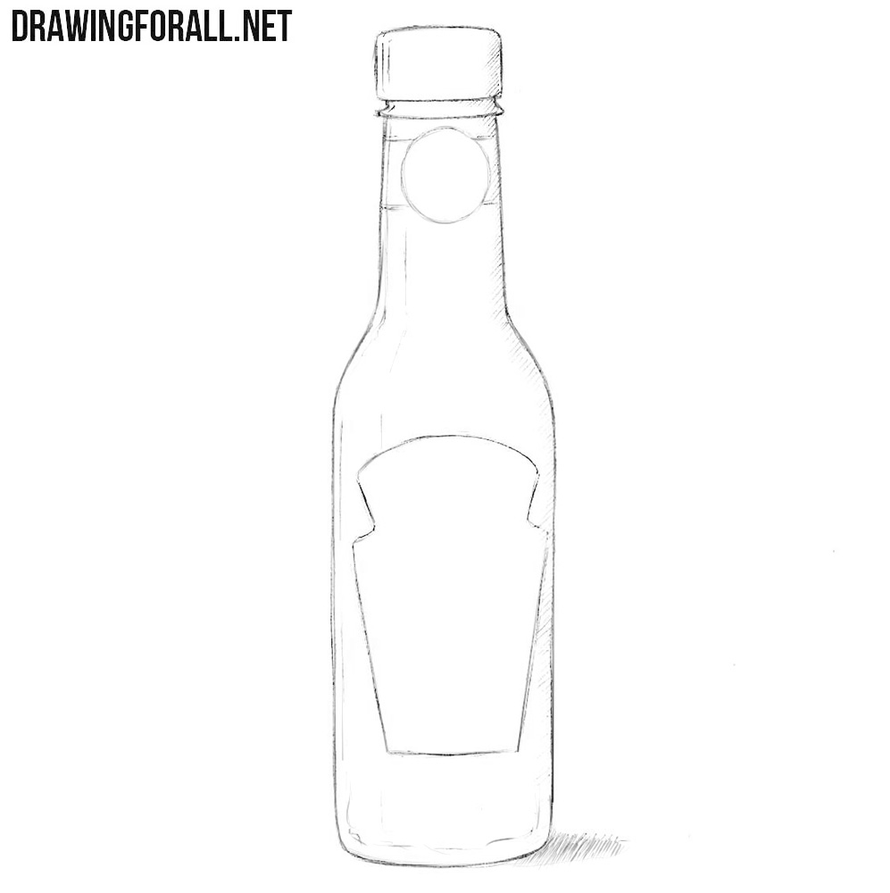 How to draw a sauce bottle