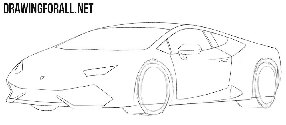 How to draw a cool Lamborghini