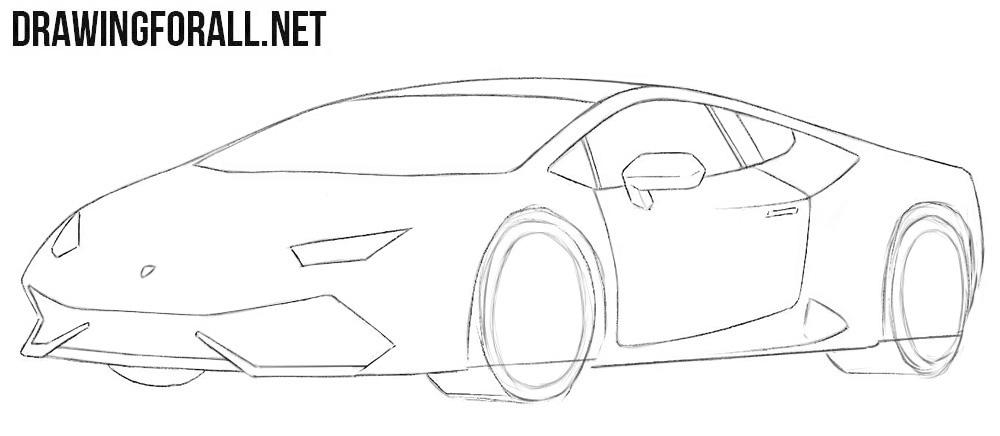 How to draw a cool Lamborghini