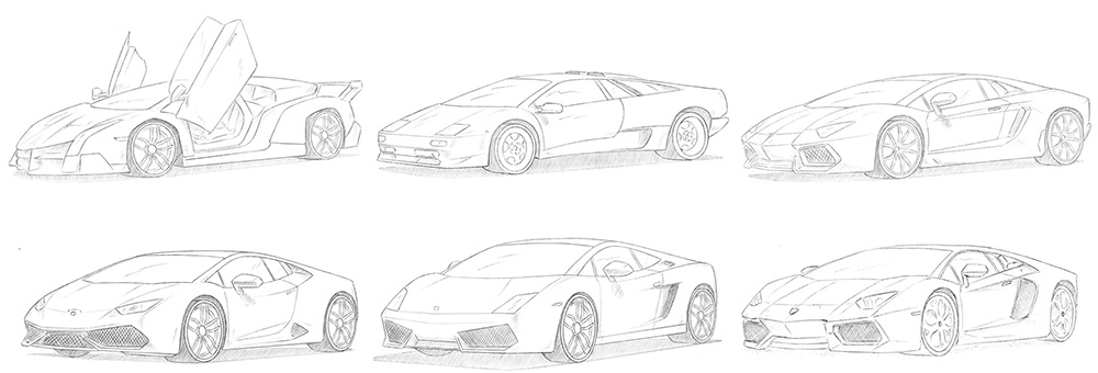 How to draw a Lamborghini easy for beginners