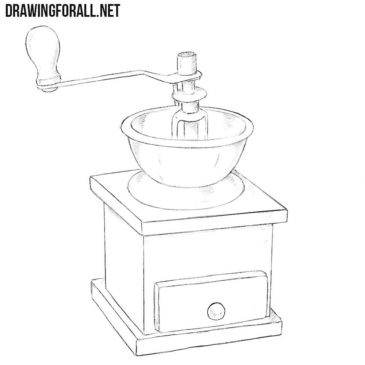 How to Draw a Coffee Grinder
